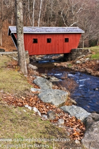 Covered Bridge in Kent Falls State Park