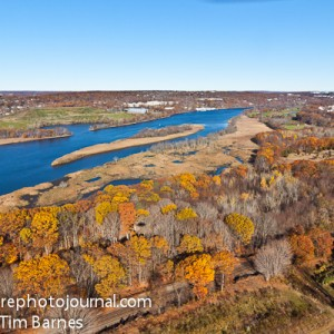 Aerial view of Housatonic River