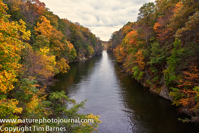 The Housatonic River as seen from the Bridge at Lover's Leap State Park