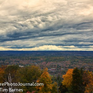 View to the west from Heublein Tower at Talcott Mountain State Park