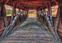 Covered Bridge at Southford Falls State Park