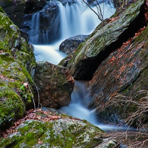Spurce Brook Falls in Naugatuck State Forest